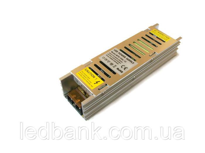 Узкий блок питания для светодиодной ленты MTR- 100W-12V 8,3A Premium