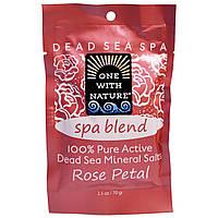 One with Nature, Минеральные соли Мертвого моря, спа-смесь, лепесток розы, 2,5 унции (70 г)