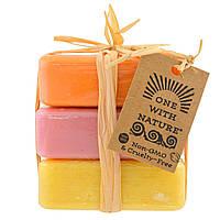 One with Nature, Набор из мыла с минералами мертвого моря, с ароматом апельсина, лесных ягод и вербены лимонной