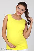 Майка хлопок 95% желтая для кормящих и беременных мам на лето S M L XL