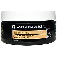Pangea Organics, Скраб для тела, бразильский коричневый сахар с какао-маслом, 226 г (8 жидких унций)