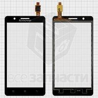 Тачскрин (сенсор) для мобильного телефона Lenovo A536, черный