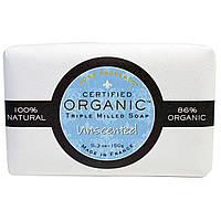 Pure Provence Organic, Сертифицированное органическое тройное пилированное мыло, без отдушки, 5,3 унции (150 г)