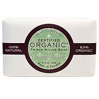 Pure Provence Organic, Сертифицированное органическое тройное пилированное мыло, марокканская мята, 5,3 унции (150 г)