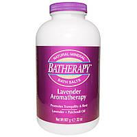 Queen Helene, Batherapy, натуральные минеральные соли для ванны, лавандовая ароматерапия, 32 унции (907 г)