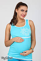 Майка хлопковая летняя для кормящих и беременных мам S M L XL