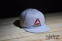 Модный белый снепбек рибок,Reebok Crossfit Snapback Cap реплика