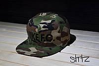 Камуфляжная рєперка снепбек найк,Nike Snapback Cap