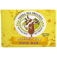 Tierra Mia Organics, Средства для ухода за кожей на основе сырого козьего молока, мыло для лица, малика, 3,8 унции