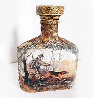 Оформление бутылки в подарок мужчине охотнику