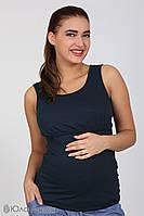 Стильная синяя майка для кормящих и беременных мам S M L XL