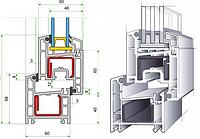 Окна и балконные блоки из профиля REHAU ECOSOL DESIGN 60