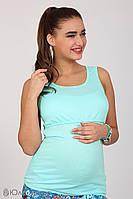 Стильная майка ментол, для кормящих и беременных мам S M L XL
