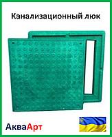 Канализационный смотровой люк Garden полимерпесчаный (зелёный) 1.5т