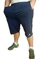 Бриджи мужские трикотаж - в больших размерах 3XL Синий, фото 2