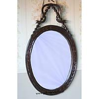 Большие деревянное зеркало с элементами ручной резьбы