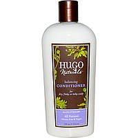 Hugo Naturals, Балансирующий кондиционер, чайное дерево и лаванда, 12 жидких унций (355 мл)