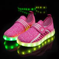Детские светящиеся кроссовки (led подсветка) pink