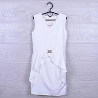 """Платье подростковое нарядное """"Алиса"""". 128-152 см. Белое. Оптом."""