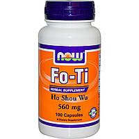 Now Foods, Фо-ти, хо шоу у, 560 мг, 100 капсул