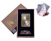 Спиральная USB зажигалка Sharing №4701-5, золотого цвета, интересный аксессуар, выделяемся в толпе, подарочна