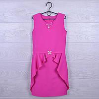 """Платье подростковое нарядное """"Алиса"""". 128-152 см. Малиновое. Оптом."""