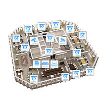 IP видеонаблюдение 16 камер (2 Мп) для офиса