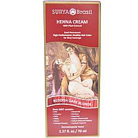 Surya Henna, Surya Henna, эффективная здоровая краска хна для седоватых волос, красноватый темно-русый, 2,37 жидких унций (70 мл)