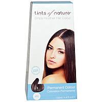 Tints of Nature, Перманентная краска для волос, натуральный коричневый оттенок, 4N, 4.4 жидкие унции (130 мл)