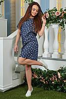 Платье джинсовое 2181 сердца белые