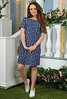 Платье джинсовое 2181 сердца розовые