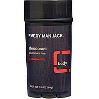 Every Man Jack, Every Man Jack, Дезодорант с кедровым ароматом, 3.0 унции (88 г)
