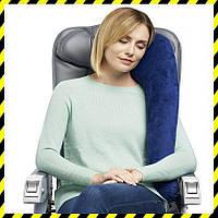 Дорожная надувная Подушка для путешествий с боковой поддержкой Silenta (royal blue)!