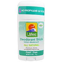 Lafes Natural Body Care, Натуральный дезодорант-стик, свежесть, 71 г