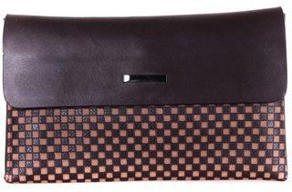 Эксклюзивный мужской кожаный клатч 30715 коричневый