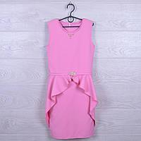 """Платье подростковое нарядное """"Алиса"""". 128-152 см. Розовое. Оптом."""
