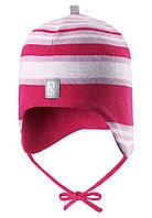 Демисезонная шапка для девочек Reima 518395 - 4620. Размеры 48 - 52.
