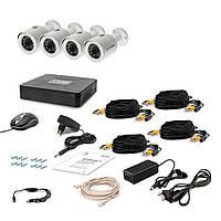 Комплект проводного видеонаблюдения Tecsar 4OUT LUX