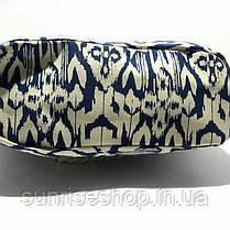 Текстильна Сумка річна для пляжу і прогулянок синя абстракція, фото 2
