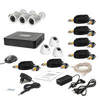 Комплект проводного видеонаблюдения Tecsar 6OUT-MIX