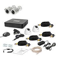Комплект проводного видеонаблюдения Tecsar 4OUT-MIX