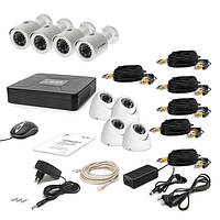 Комплект проводного видеонаблюдения Tecsar 8OUT-MIX