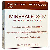 Mineral Fusion, Трио теней для век, Золотая роза, 0,10 унции (3,0 г)