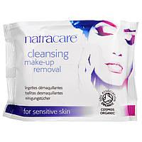 Natracare, Космос Органик, Очищающие салфетки для удаления макияжа, 20 салфеток