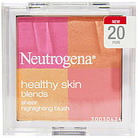 Neutrogena, Здоровая кожа, настоящие яркие румяна, 20 Pure, 0,30 унции (8,48 г)