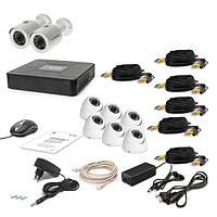 Комплект проводного видеонаблюдения Tecsar 8OUT-MIX3