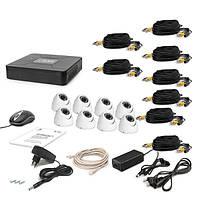 Комплект проводного видеонаблюдения Tecsar 8OUT-DOME