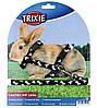 Шлейка с поводком для кролика (нейлон) 25-44см/10мм