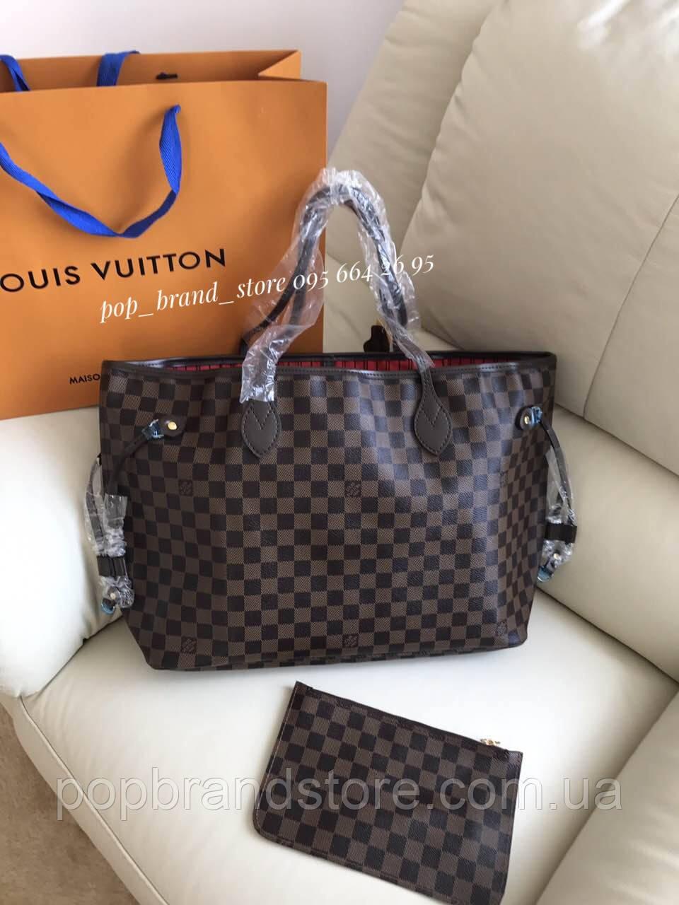 Популярная женская сумка Louis Vuitton Neverfull 40 см (реплика) - Pop  Brand Store   85f172441d1
