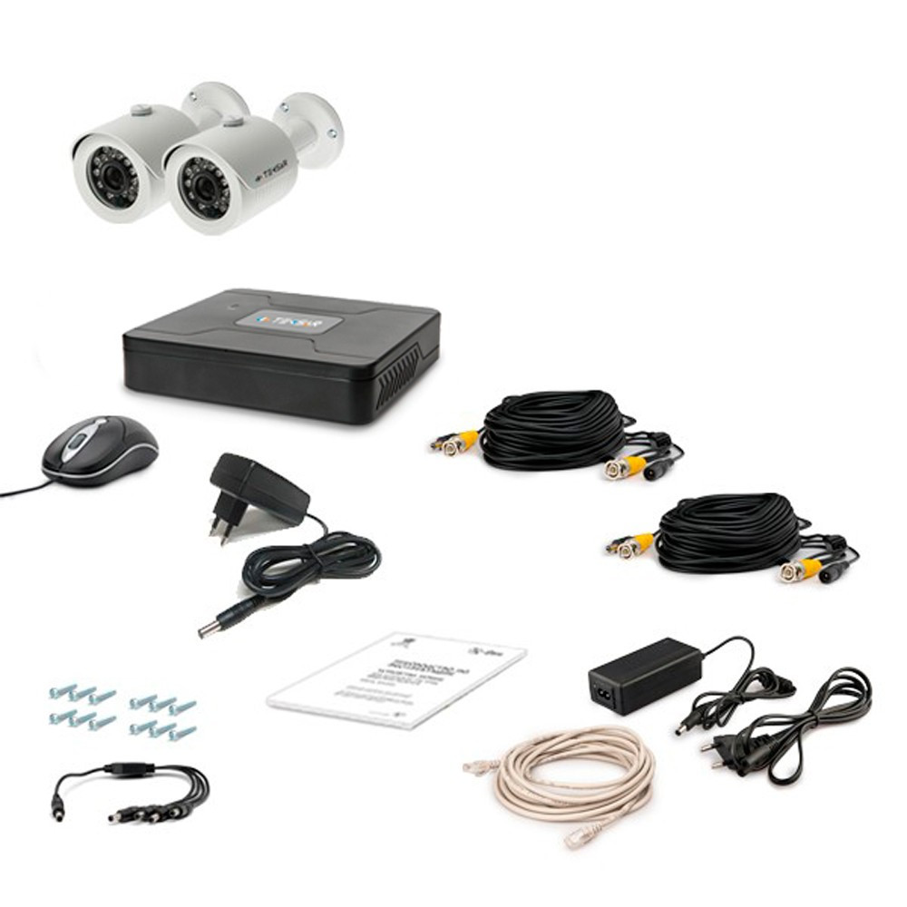 Комплект проводового відеоспостереження Tecsar 2OUT LUX